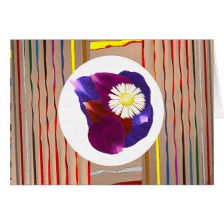 Blumen-Blumenblatt-multi Bild-mit Grußkarte