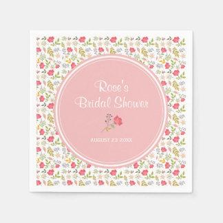 Blumen| Brautparty-Papierservietten der Rosen- Papierservietten