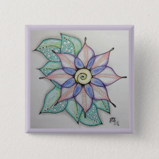 Blumen-Button (2 Zoll) Quadratischer Button 5,1 Cm