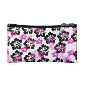 Blumen-Creme Makeup-Tasche