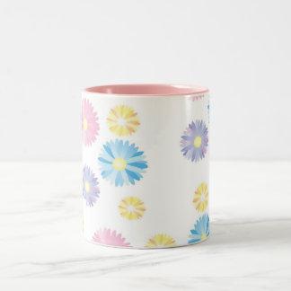 Blumen-Druck-Tasse Zweifarbige Tasse
