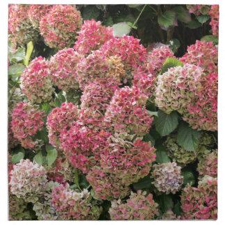 Blumen eines Franzosen Hydrangea (Hydrangea Stoffserviette