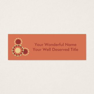 Blumen-Entwurf Mini Visitenkarte
