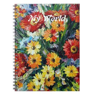 Blumen-Foto-Notizbuch Notizblock