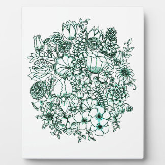 Blumen-Garten Fotoplatte