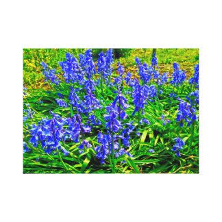 Blumen-Garten Leinwanddruck