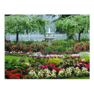 Blumen-Garten Postkarte