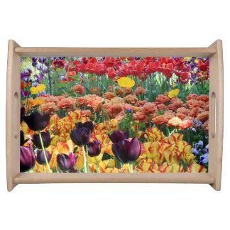 Blumen-Garten Tabletts