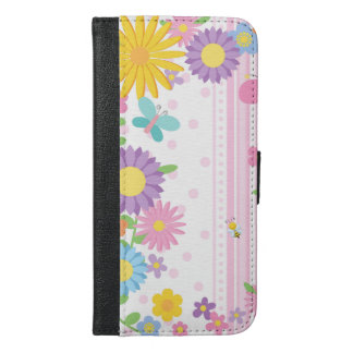 Blumen-Geldbörsen-Kasten iPhone iPhone 6/6s Plus Geldbeutel Hülle