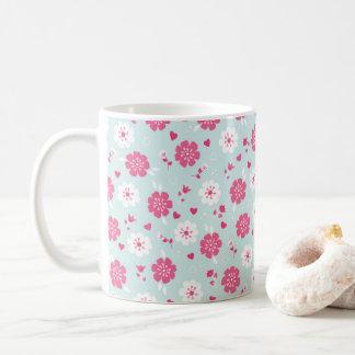 Blumen-Herz-Rosa des Valentines Tages Tasse