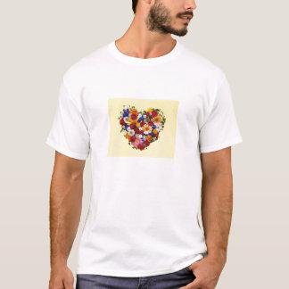 Blumen-Herz T-Shirt