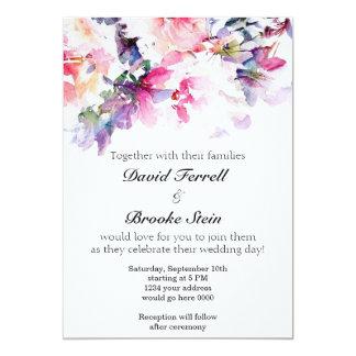 Blumen-Hochzeits-Einladung 12,7 X 17,8 Cm Einladungskarte