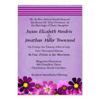 Blumen-Hochzeits-Einladungen 12,7 X 17,8 Cm Einladungskarte