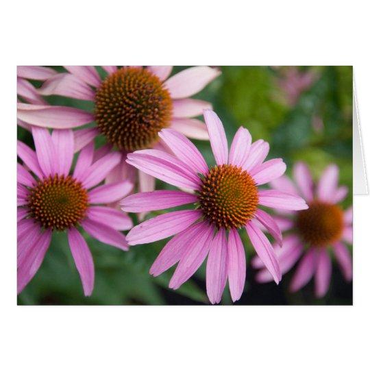 Blumen in der Blütenraum-Anmerkungskarte Mitteilungskarte