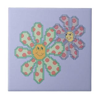 Blumen in der Liebe Kleine Quadratische Fliese