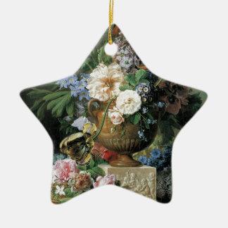 Blumen in einem Alabaster-Vase Keramik Stern-Ornament