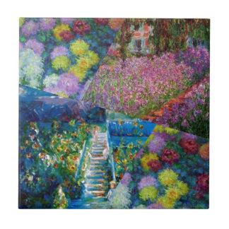 Blumen in Monets Garten sind einzigartig Keramikfliese