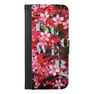 Blumen iPhone 6/6s Plus Geldbeutel Hülle