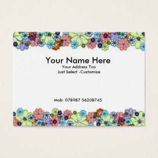 Blumen Jumbo-Visitenkarten
