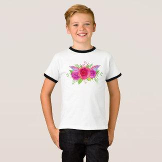 Blumen-Jungen-Entwurf T-Shirt