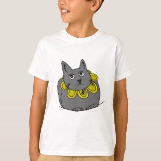 Blumen-Katzen-niedliches Hand-gezeichnet T-Shirt