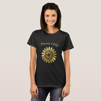 Blumen-Kindergoldblumenentwurf T-Shirt
