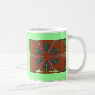 Blumen-Leidenschaft, artbycindyeverett Kaffeetasse