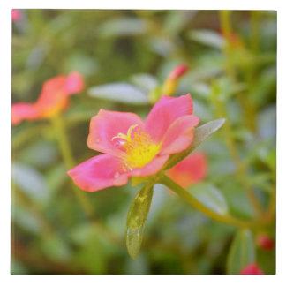 Blumen-Liebe Große Quadratische Fliese