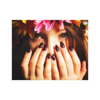 Blumen-Mädchen-Druck-Leinwand Leinwanddruck