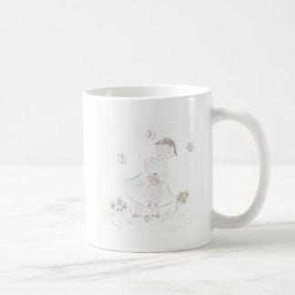 Blumen-Mädchen Kaffeetasse