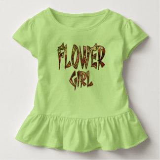 Blumen-Mädchen-Kleinkind-Rüsche-T-Stück Kleinkind T-shirt