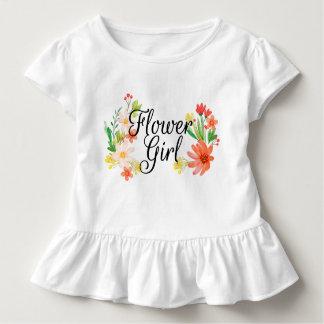 Blumen-Mädchen mit Blumen Kleinkind T-shirt