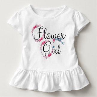 Blumen-Mädchen-niedliches Blumen Kleinkind T-shirt