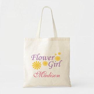Blumen-Mädchen-personalisierte Taschen-Tasche Budget Stoffbeutel
