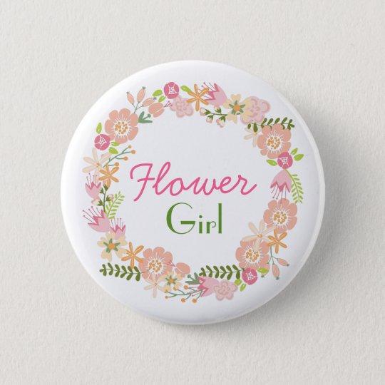 Blumen-Mädchen-Proben-Knopf Runder Button 5,1 Cm