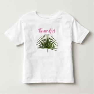 Blumen-Mädchen-tropische Kleinkind T-shirt