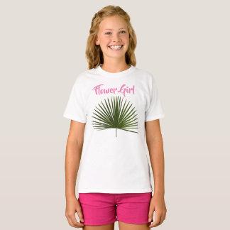 Blumen-Mädchen-tropische T-Shirt