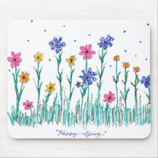Blumen-Mausunterlage Mousepad