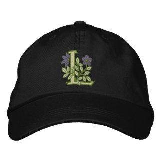 Blumen-Monogramm-Initiale L Baseballcap