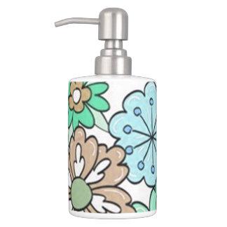 """""""Blumen"""" Multi-Farben Badezimmer-Set"""