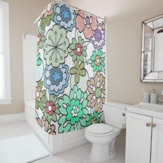 """""""Blumen"""" Multi-Farben Duschvorhang"""
