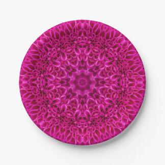 Blumen-Muster-kundenspezifischer PapierTeller