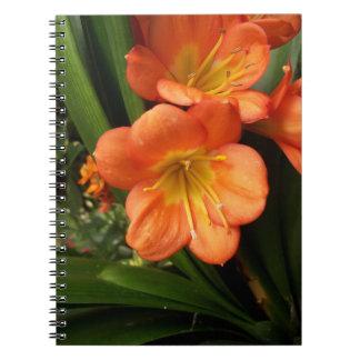 Blumen-Notizbuch Spiral Notizblock
