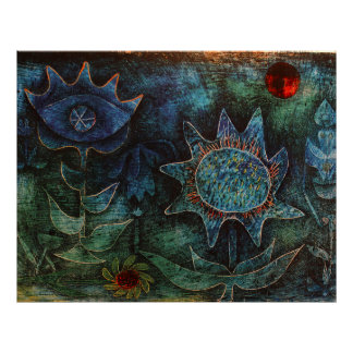 Blumen Pauls Klee in der Nacht Poster