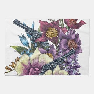 Blumen-Pistolen-Gewehre Küchenhandtuch