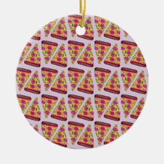 blumen Pizza Keramik Ornament