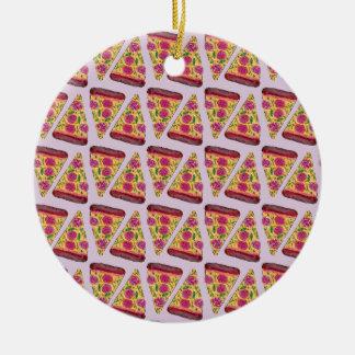 blumen Pizza Rundes Keramik Ornament