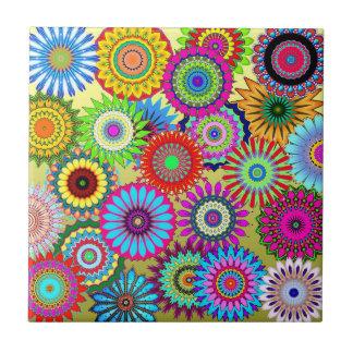 Blumen-Power-Keramik-Fliese Kleine Quadratische Fliese