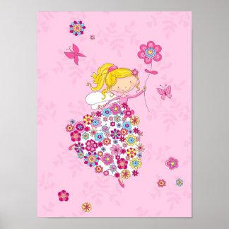 Blumen-Prinzessin Poster