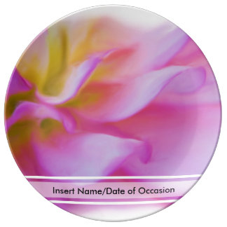 Blumen-rosa Dahlie Porzellanteller